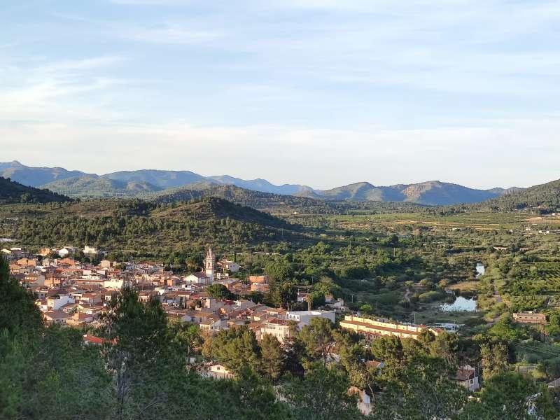 Vista del municipio de Estivella.
