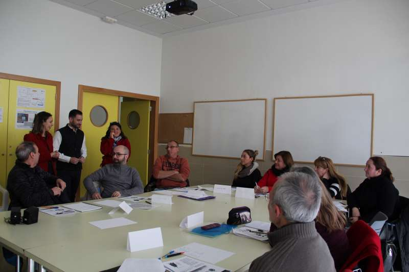 Inauguración del taller de albañilería. / EPDA