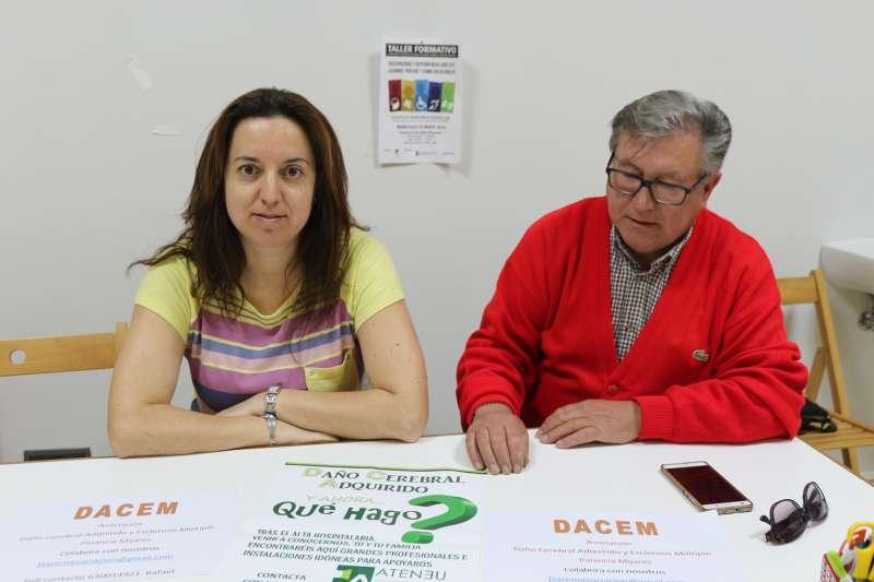 Amparo Gomis, y Rafael Hervás, secretaria y presidente de DACEM