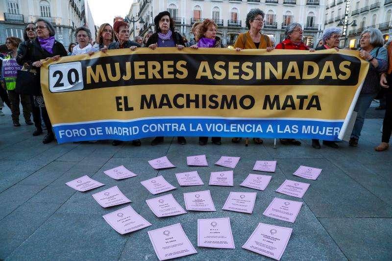 Concentración contra la violencia de género y los asesinatos machistas. EFE/Archivo