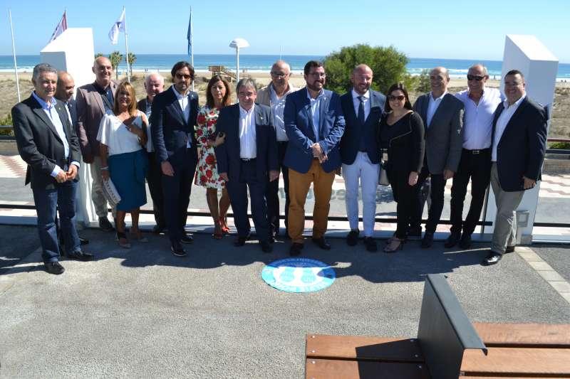 Visita de Toni Gaspar a Canet con diputados, alcaldes y concejales de la comarca. EPDA