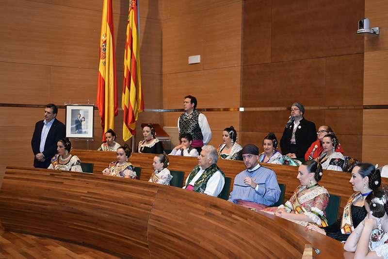 Visitas Falleras Mayores Alfafar a la Diputación de Valencia