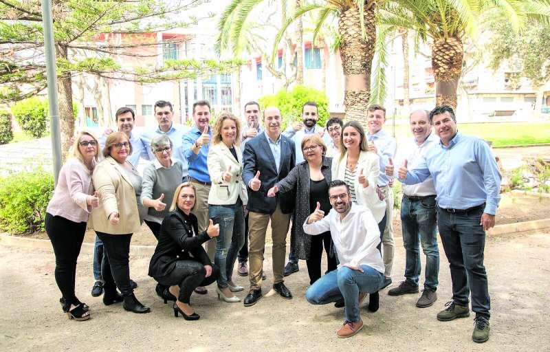 Miembros de la lista del PP de Xirivella