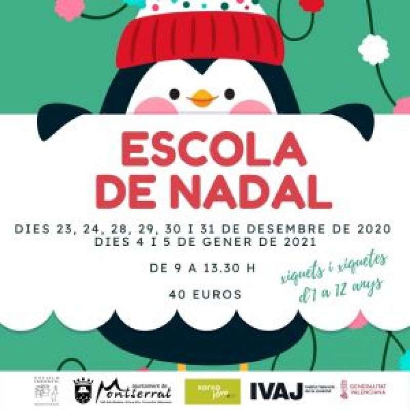 Cartell Escola de Nadal./ Ajuntament Montserrat