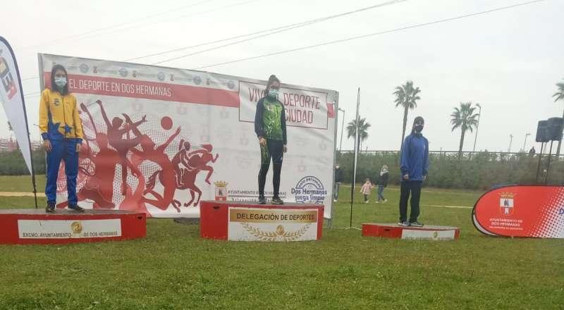 Imagen de Empar Vizcano en el Campeonato de campo a través disputado en Dos Hermanas.