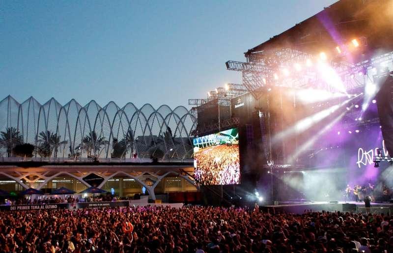 Vista general del Festival de Les Arts, en una edición anterior.