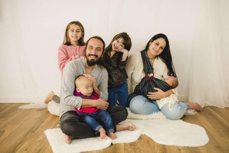 La familia de Sayen, en una foto en la web de la iniciativa.