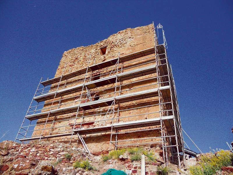 Estado de las obras del Castillo de Torres Torres. EPDA
