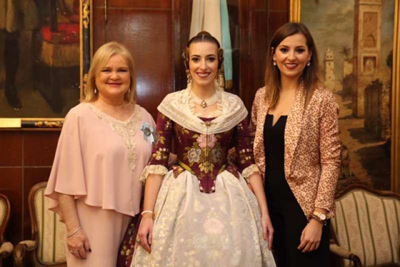 Silvia Giménez en el acto de presentación de la Reina del Ateneo./epda