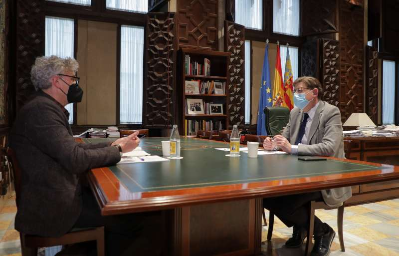 Rafael Tabarés junto al president de la Generalitat, Ximo Puig, en una imagen proporcionada por la GVA / EPDA.