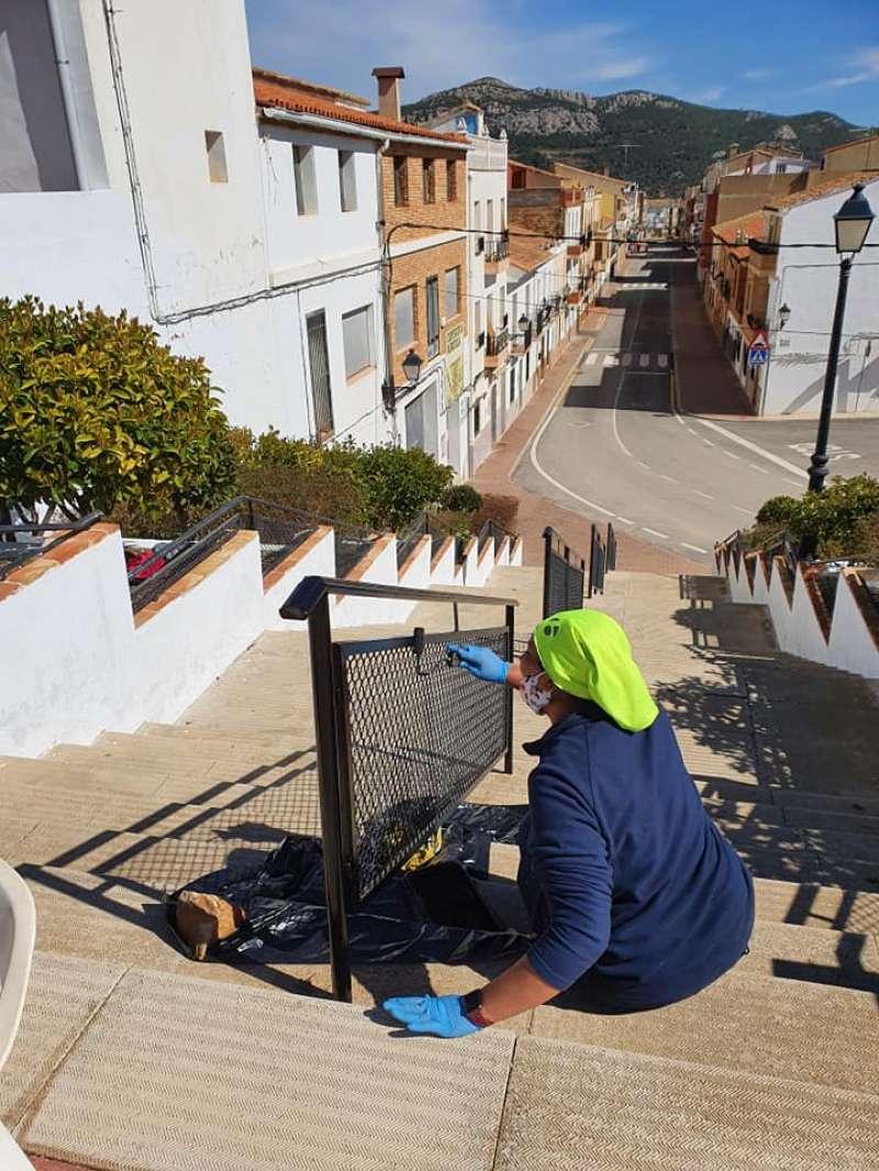 Pintura de la escalinata