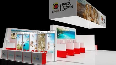 Stand de España en la Feria Internationale Tourismus Börse. Foto EPDA