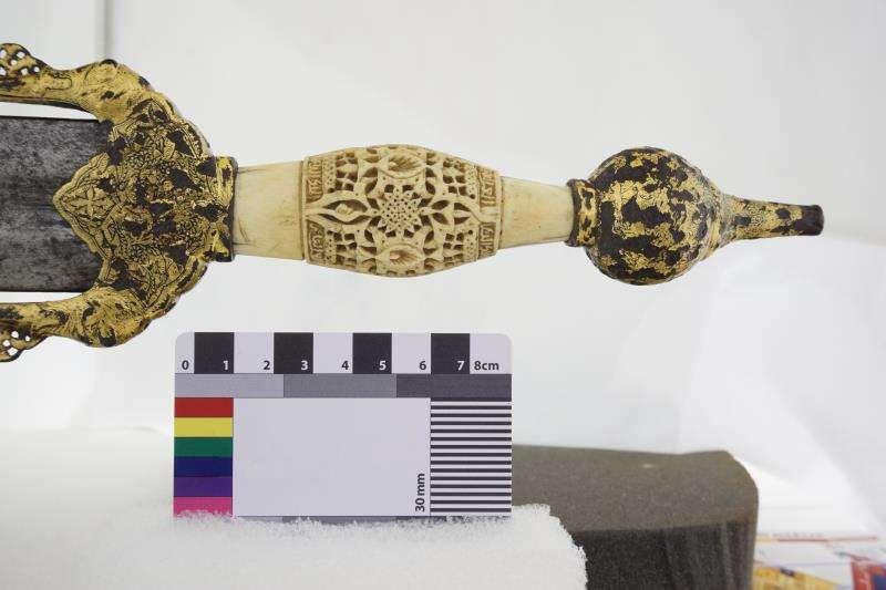 Proceso de digitalización tridimensional de la espada del caudillo hispanomusulmán Ali Atar FOTO UPV.