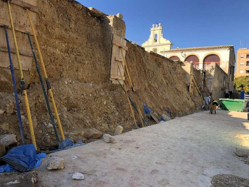 Muro del patio de Los Silos de Burjassot. EPDA