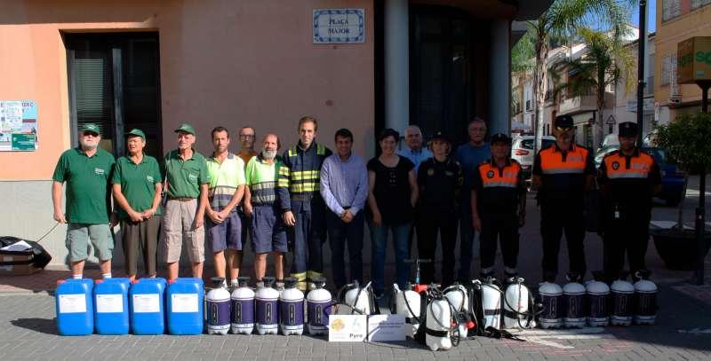 Entrega de equipamiento de seguridad al municipio de Olocau