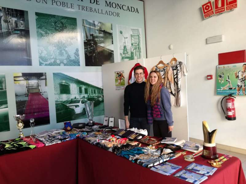 Vicente Lli y Sara Moreno en Moncada.