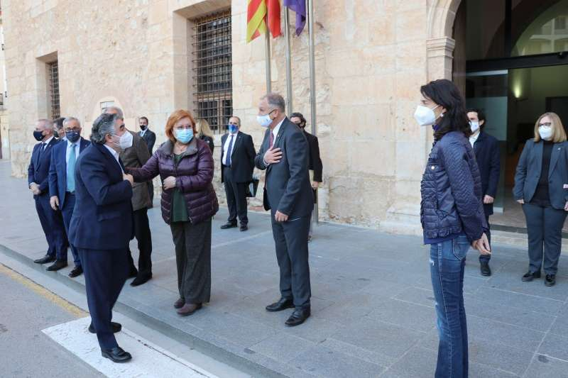 Recibimiento del ministro en Llíria. EPDA.