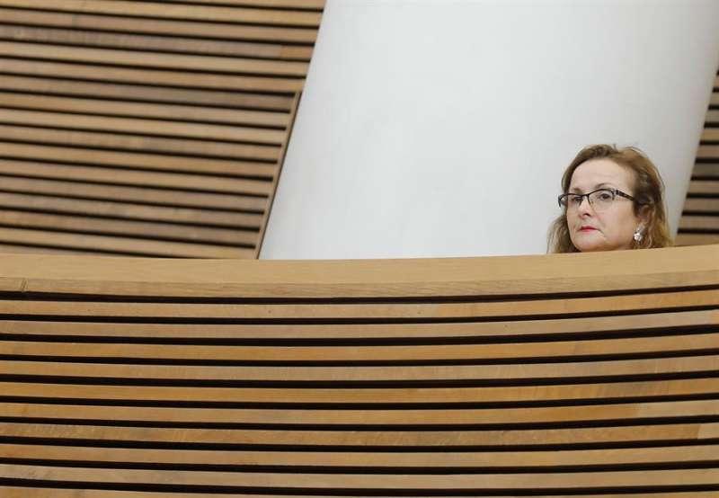 La presidenta dela Asociaci�n de V�ctimas 3 de Julio, Rosa Garrote, en la tribuna de invitados de les Corts Valencianes.EFE/ Archivo