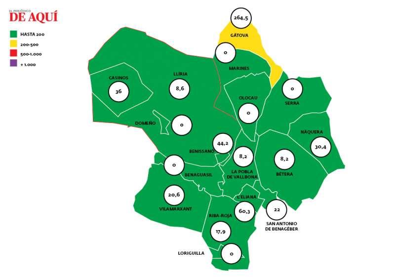 Mapa de incidència a 29 de març. EPDA.