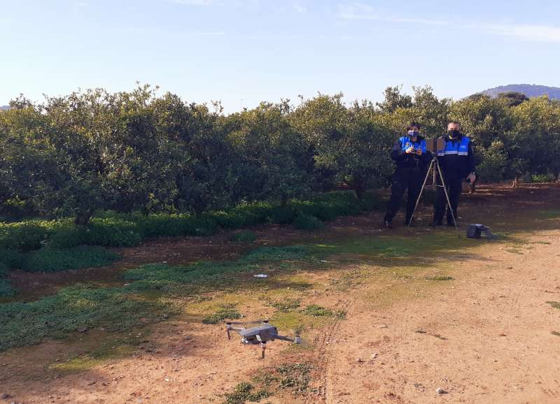 Imagen del dron facilitada por el consistorio.