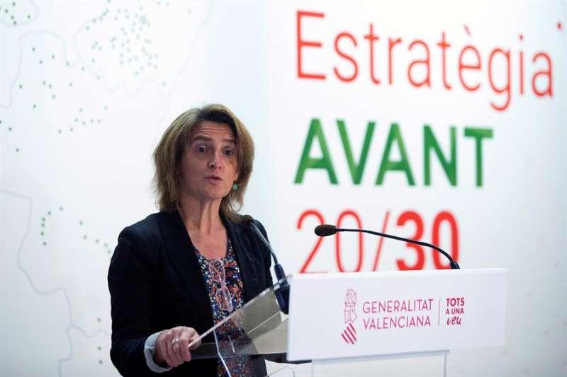La vicepresidenta y ministra para la Transición Ecológica y el Reto Demográfico, Teresa Ribera, presenta la Estrategia