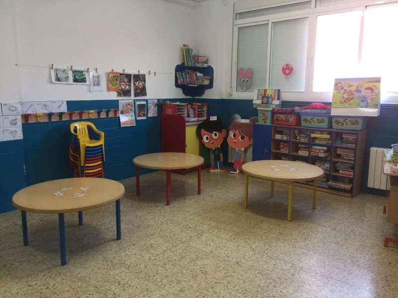 Aula del colegio Ramón y Cajal de Alfara del Patriarca. EPDA