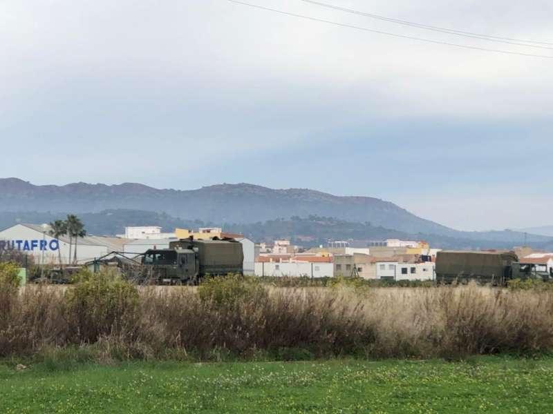 Vista de Quartell con la tienda del Ejército.