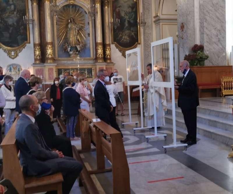 Medidas de seguridad durante la misa. BALTASAR BUENO