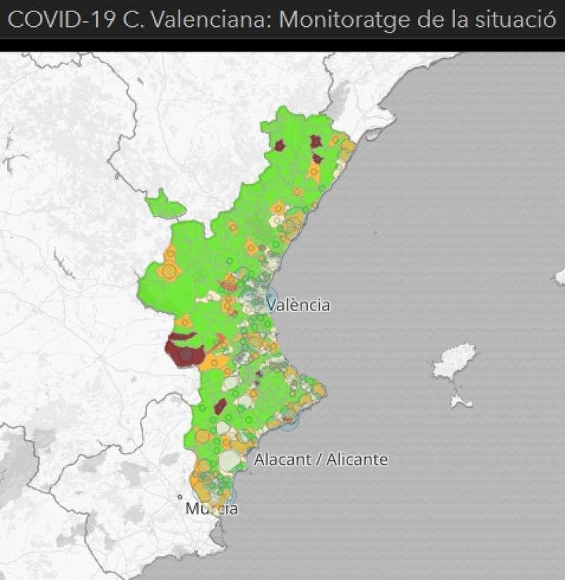 Mapa Covid de la Comunitat Valenciana