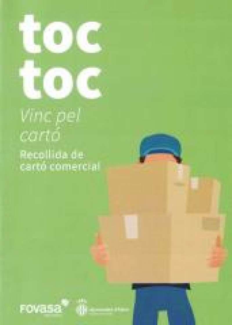 Cartel campaña de recogida de cartón de Alzira