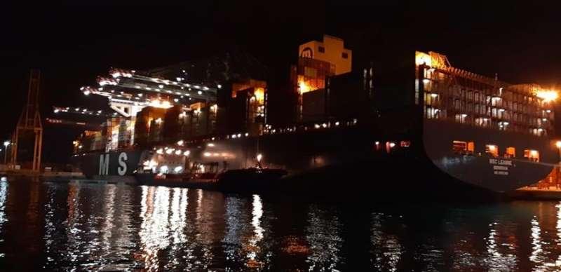 El carguero, en una imagen difundida por la Generalitat.