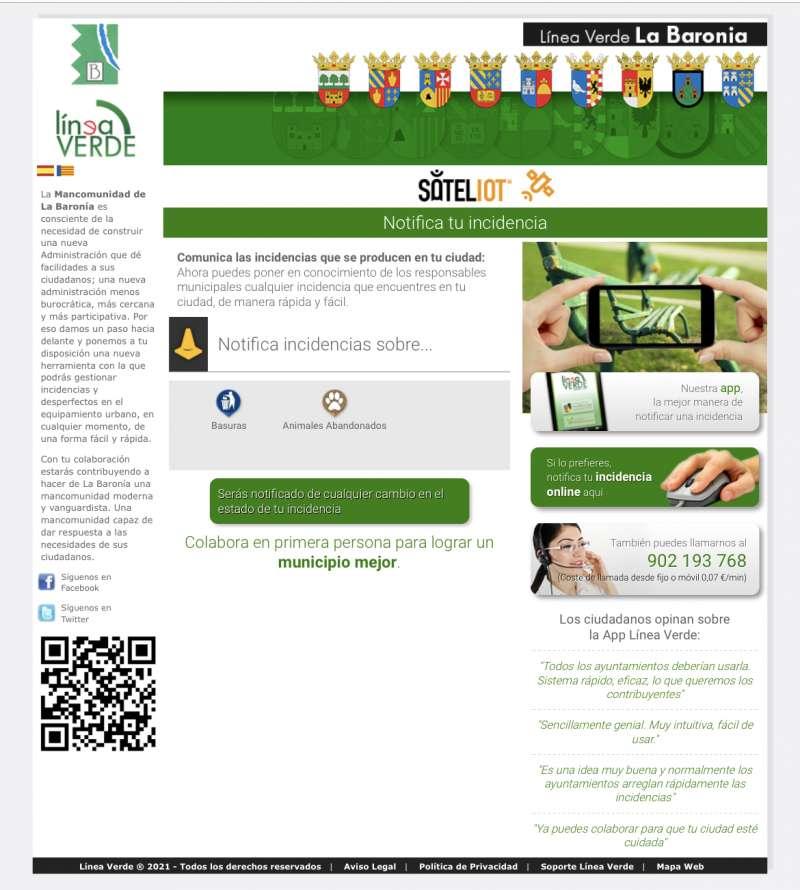 Imagen de la web informativa.