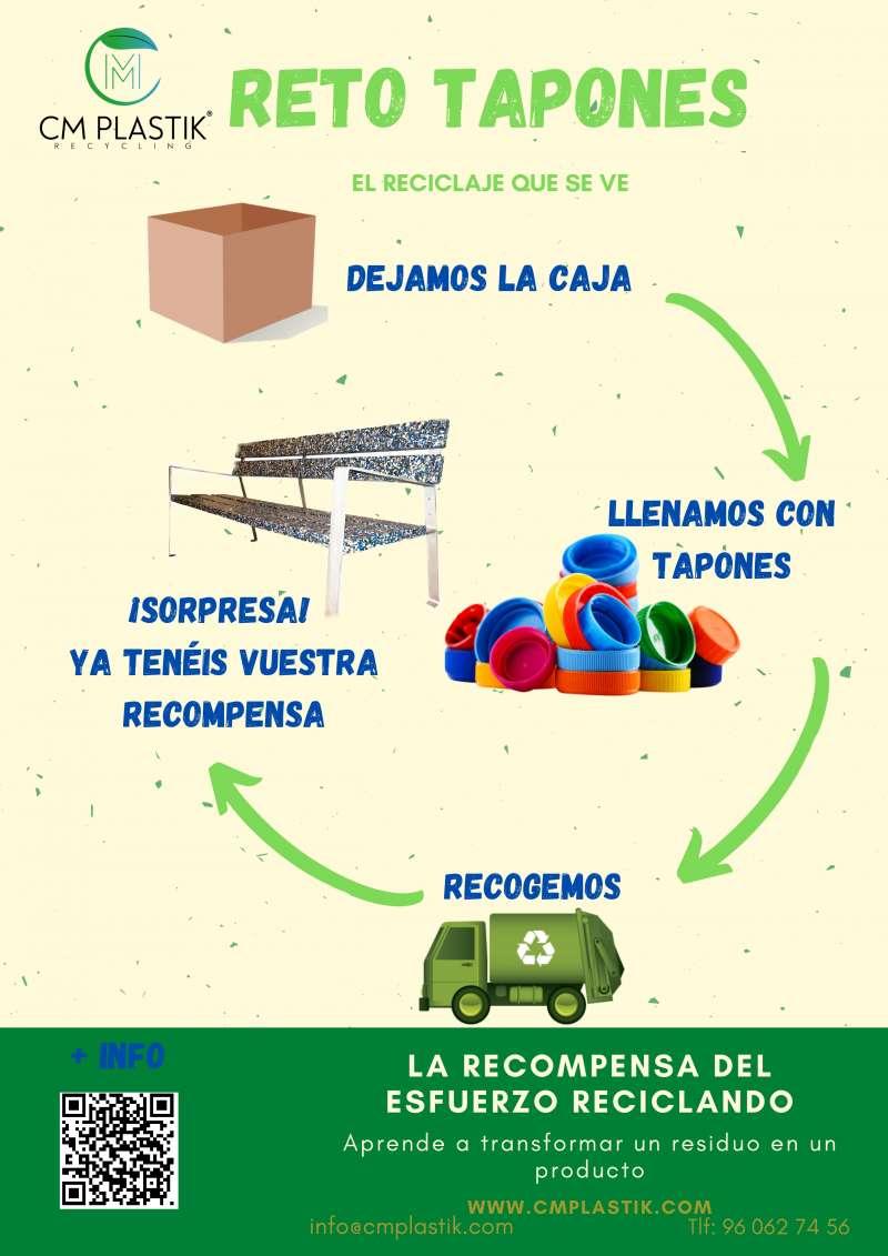 Cartel de Reto Tapones del Ayuntamiento de Museros.