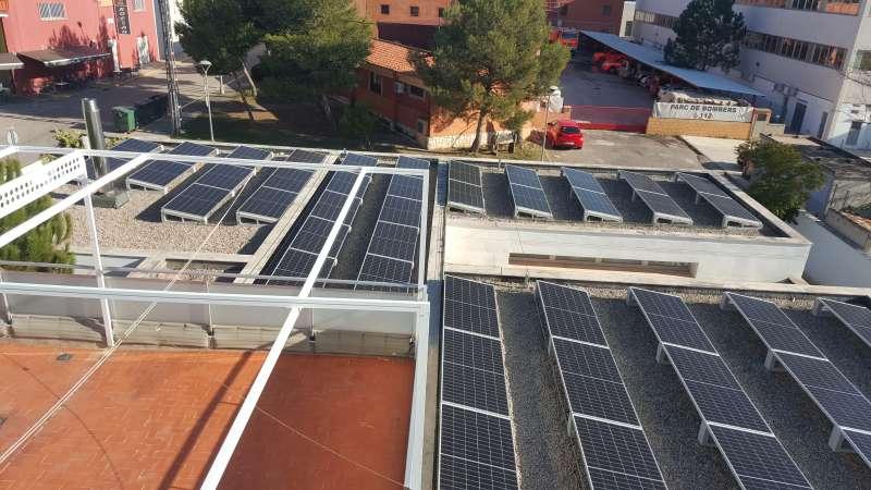 Instalación fotovoltaica en la guardería de Fuente del Jarro