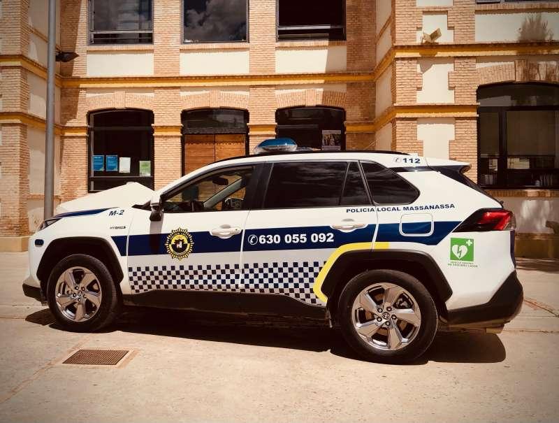 El nuevo coche de la Policía Local de Massanassa. EPDA