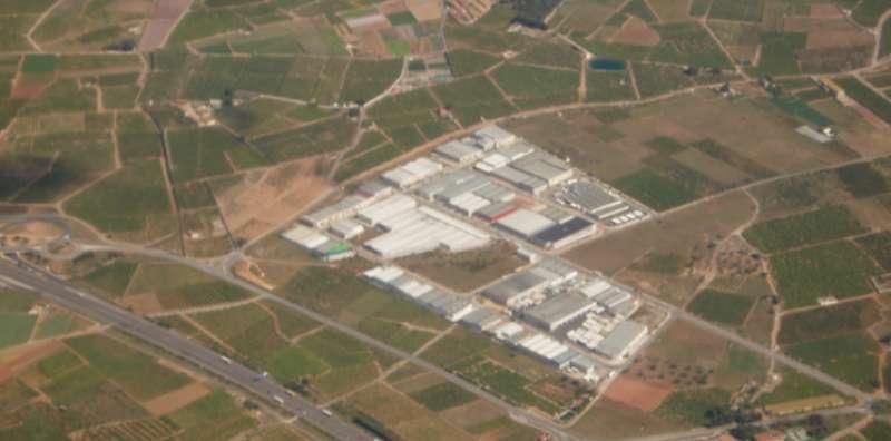 Vista aérea de uno de los polígonos de Moncada. EPDA