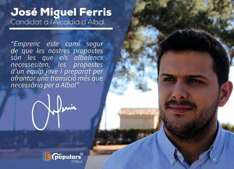 Candidato del Partido Popular en Albal, José Miguel Ferris./epda