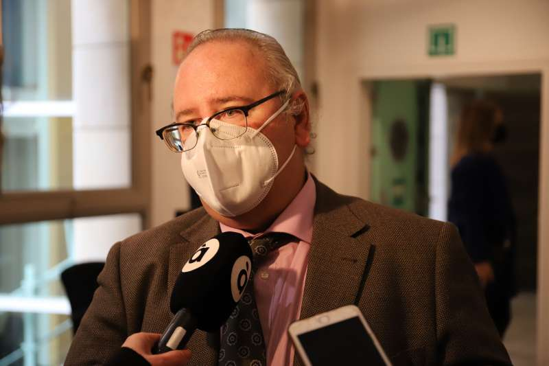 El portavoz de Ciudadanos (Cs) en la Comisión de Justicia de Les Corts valencianes, Vicente Fernández.