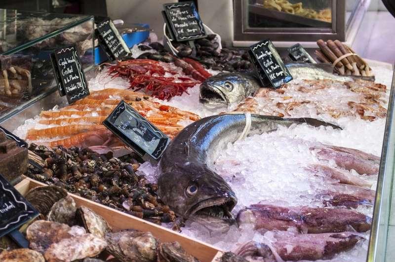 Imagen de archivo de una pescadería