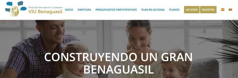 Página web de participación ciudadana de Benaguasil. / EPDA