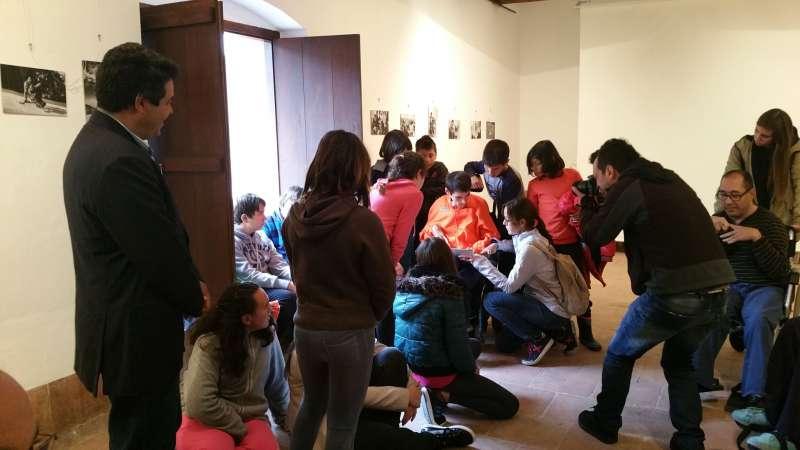 Un momento de la inauguración de la exposición.//EPDA