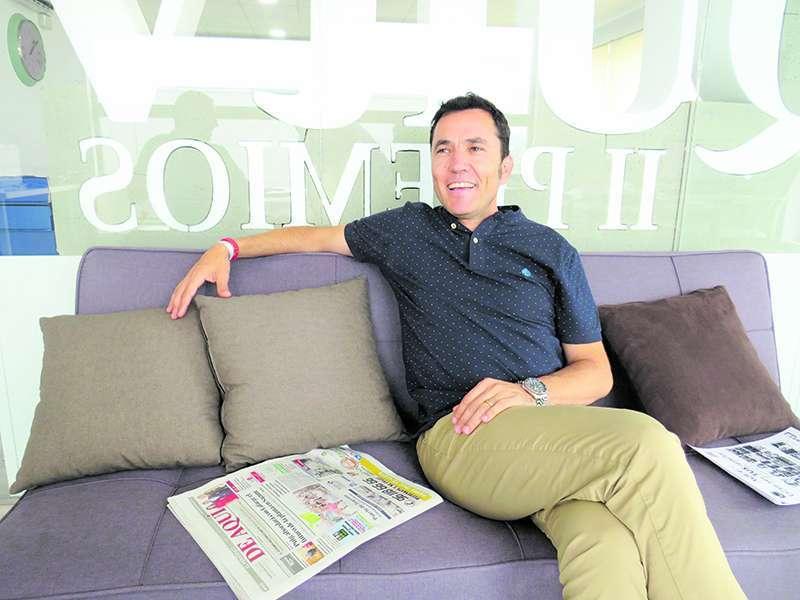 Pere Antoni durante una entrevista en El Periódico de Aquí.