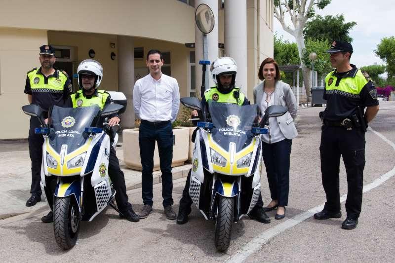 Nuevas motos policia local