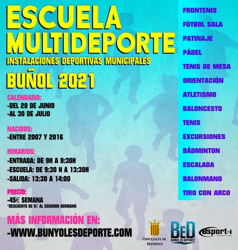 Cartel Escuela Multideporte
