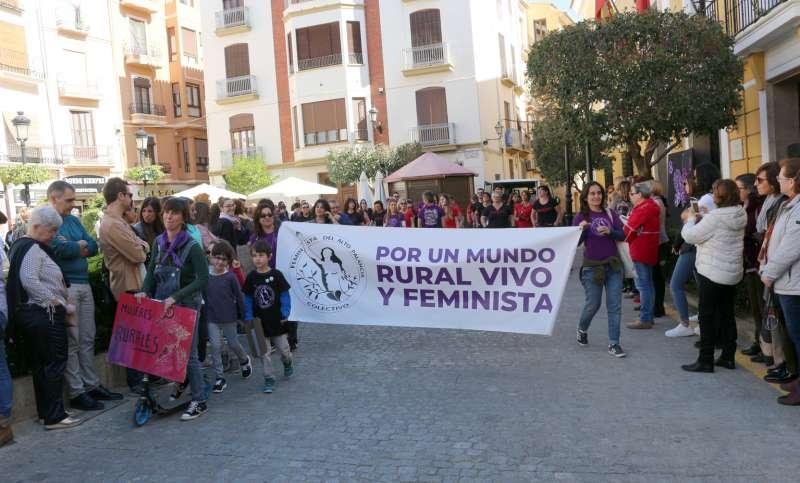 Manifestación del Colectivo Feminista