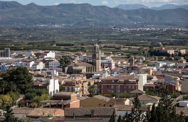 Vista general de la localidad valenciana de Benigànim. EFE/ Biel Aliño/Archivo