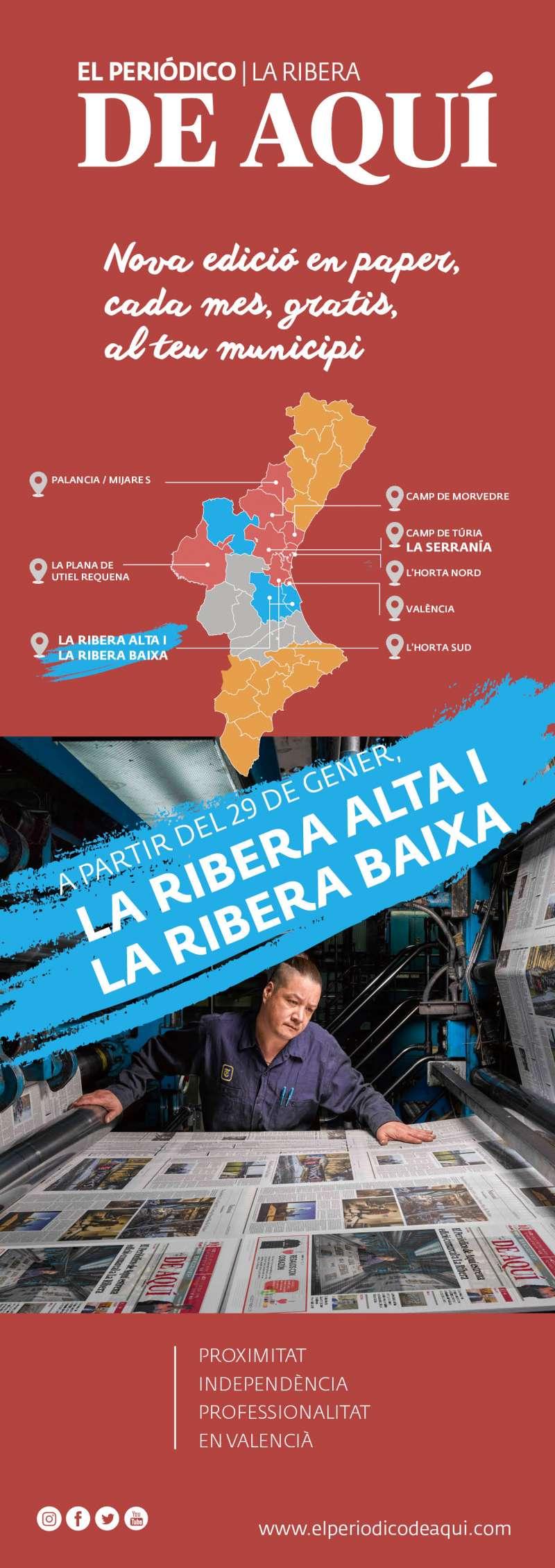 Naix El Periódico de Aquí de La Ribera.