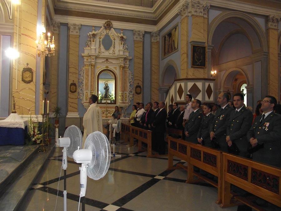 Un momento de la misa celebrada hoy en Albalat dels Tarongers. FOTO F. P.