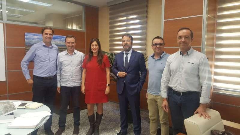 Reunión Riba3 con el alcalde Robert Raga
