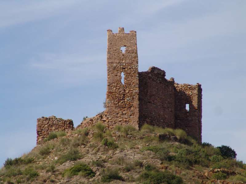 La torre antes de su derrumbe